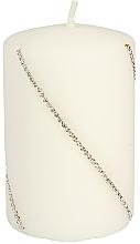 Parfums et Produits cosmétiques Bougie décorative blanche, 10x7 cm - Artman Bolero Mat