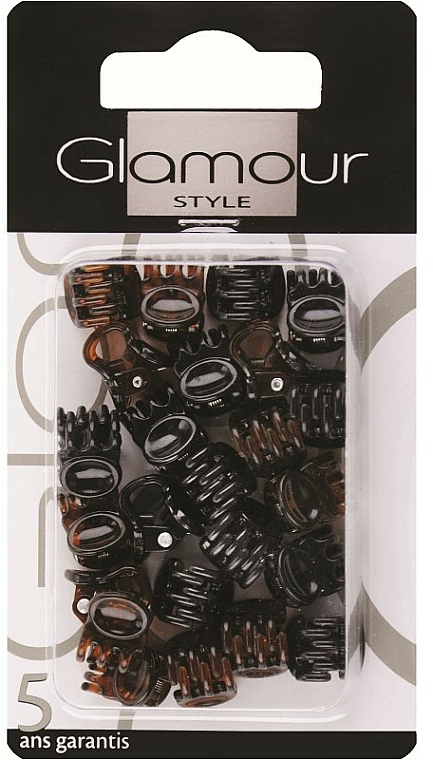 Pinces à cheveux, 0222, brun-noir - Glamour