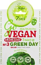 Parfums et Produits cosmétiques Masque tissu à l'extrait de brocoli pour visage - 7 Days Go Vegan Wednesday Green Day