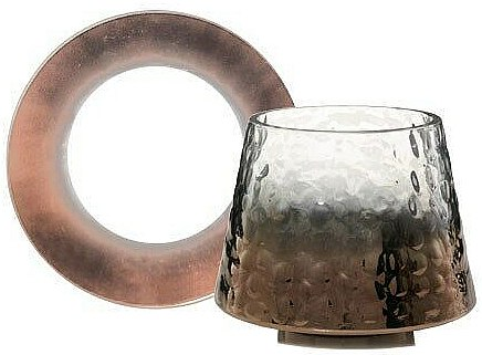 Yankee Candle Sheridan Metal Hammered Glass Large Set - Abat-jour et plateau pour bougie — Photo N1