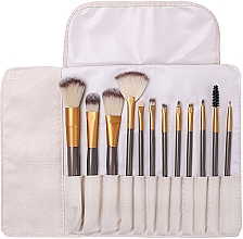 Parfums et Produits cosmétiques Kit pinceaux de maquillage dans étui,12pcs - Lewer
