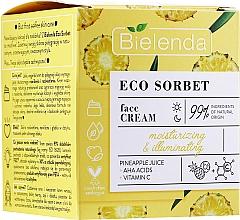 Parfums et Produits cosmétiques Crème aux acides AHA et vitamine C pour visage - Bielenda Eco Sorbet Moisturizing & Brightening Face Cream