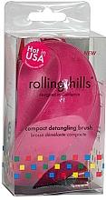 Parfums et Produits cosmétiques Brosse à cheveux démêlante compacte, fuchsia - Rolling Hills Compact Detangling Brush Fuschia