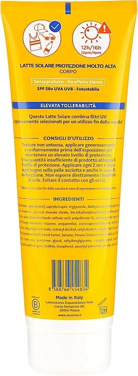 Lait solaire à l'huile d'avocat pour corps - Mustela Bebe Very High Protection Sun Milk SPF50+ — Photo N2