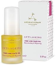 Parfums et Produits cosmétiques Huile aux huiles de rose et patchouli pour visage - Aromatherapy Associates Anti-Ageing Fine Line Face Oil