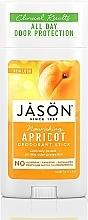 Parfums et Produits cosmétiques Déodorant stick naturel à l'huile d'apricot - Jason Natural Cosmetics Pure Natural Deodorant Stick Apricot