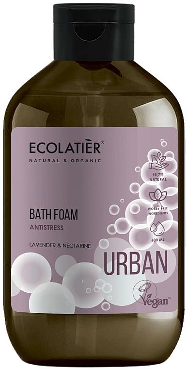 Mousse de bain anti-stress, Lavande et Nectarine - Ecolatier Urban Bath Foam