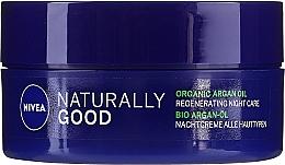 Parfums et Produits cosmétiques Crème de nuit à l'huile d'argan - Nivea Naturally Good Night Regeneration Care