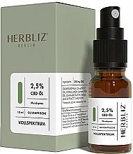 Parfums et Produits cosmétiques Spray buccal à l'huile de CBD 2,5%, Olive - Herbliz Olive Fresh CBD Oil Mouth Spray 2,5%