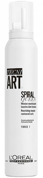 Mousse coiffante, fixation faible - L'Oreal Professionnel Tecni.Art Spiral Queen