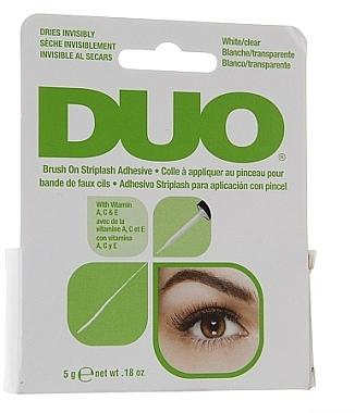 Colle trasparente aux vitamines pour faux-cils avec applicateur - Duo Brush-On Lash Adhesive