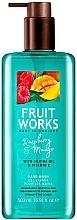 Parfums et Produits cosmétiques Gel nettoyant pour mains, Framboise et Mangue - Grace Cole Fruit Works Hand Wash Raspberry & Mango
