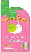 Parfums et Produits cosmétiques Masque raffermissant à la bave d'escargot pour visage - Dewytree Help Me Snail! Vitalizing Mask