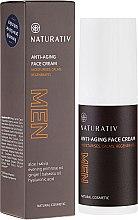 Parfums et Produits cosmétiques Crème anti-âge à l'aloès et acide hyaluronique - Naturativ Men Face Cream