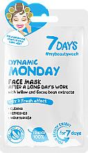 Parfums et Produits cosmétiques Masque rafraîchissant à l'extrait de saule et de graines de cacao pour visage - 7 Days Dynamic Monday