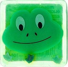 Parfums et Produits cosmétiques Savon glycériné à l'arôme de pomme verte, Grenouille ludique - Chlapu Chlap Glycerine Soap