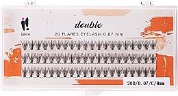 Parfums et Produits cosmétiques Faux-cils individuels, C 8 mm - Ibra 20 Flares Eyelash Knot Free Naturals