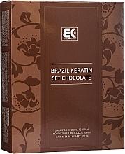 Parfums et Produits cosmétiques Brazil Keratin Intensive Repair Chocolate - Set (shampooing/300ml + après-shampooing/300ml + sérum/100ml)