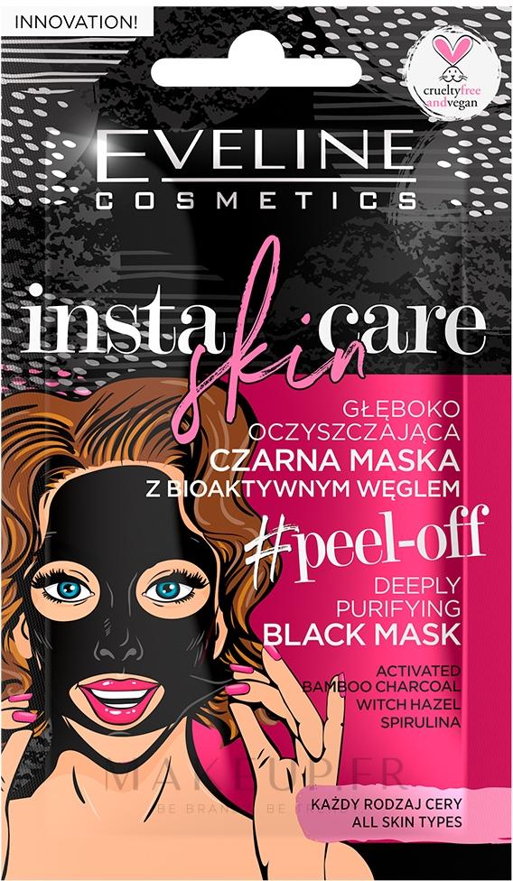 Masque à bulles au charbon actif pour visage - Eveline Cosmetics Insta Skin Care #Peel Off — Photo 10 ml