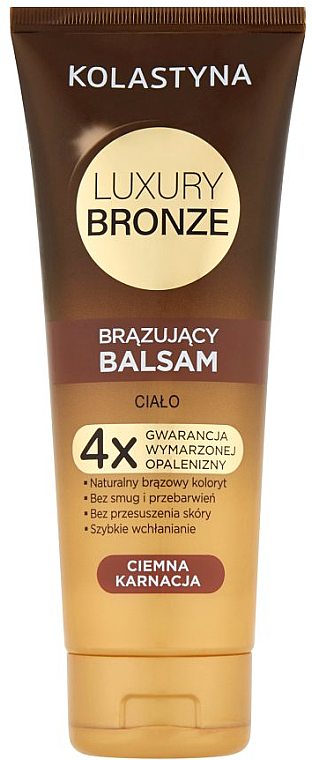 Baume auto-bronzant pour peau foncée - Kolastyna Luxury Bronze Tanning Balm