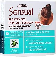 Parfums et Produits cosmétiques Bandes de cire à l'extrait d'aloe vera pour visage - Joanna Sensual Depilatory Face Strips