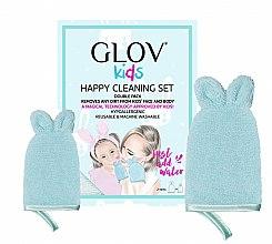 Parfums et Produits cosmétiques Set gants démaquillants - Glov Kids Happy Cleaning Set Blue (grang gant/1pcs + petit gant/1pcs)