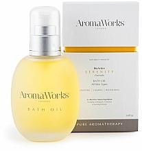 Parfums et Produits cosmétiques Huile de bain, Citronnelle et Géranium - AromaWorks Serenity Bath Oil