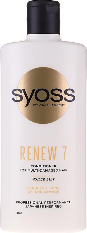 Après-shampooing à l'extrait de lotus bleu - Syoss Renew 7 Water Lily Conditioner For Multi-Damage Hair