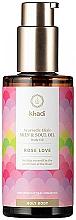 Parfums et Produits cosmétiques Huile ayurvédique à l'huile de tournesol pour le corps - Khadi Ayurvedic Elixir Skin & Soul Oil Rose Love