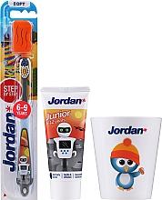 Parfums et Produits cosmétiques Jordan Junior - Set, Robot (dentifrice/50ml + brosse à dents/1pc + tasse)