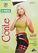 Parfums et Produits cosmétiques Collant pour femme, X-press, 20 Den, mocca - Conte