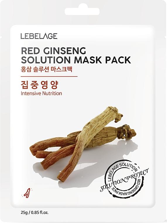Masque tissu au ginseng rouge pour visage - Lebelage Red Ginseng Solution Mask