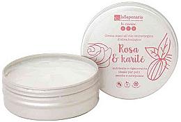 """Parfums et Produits cosmétiques Crème mains, nourrissante et régénérante, """"Rose et beurre de karité"""" - La Saponaria Hand Cream Rose and Shea Butter"""