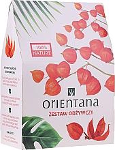 Parfums et Produits cosmétiques Kit soin visage - Orientana Papaya (crème visage/40ml + gommage visage/50ml + masque yeux/1patch)