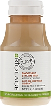 Parfums et Produits cosmétiques Laif coiffant lissant au miel et avoine - Biolage R.A.W. Smoothing Styling Milk