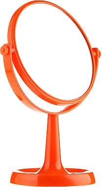 Miroir rond à poser 85734, 15,5 cm, orange - Top Choice Colours Mirror