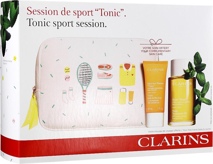 Coffret cadeau - Clarins Tonic Sport Session (bath/f/30ml + b/oil/100ml + bag) — Photo N1