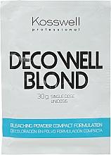 Parfums et Produits cosmétiques Poudre décolorante, bleu - Kosswell Professional Decowell Blond