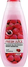 Parfums et Produits cosmétiques Gel douche crémeux au litchi et framboise - Fresh Juice Creamy Shower Gel Litchi & Raspberry