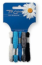 Parfums et Produits cosmétiques Lot de 5 élastiques à cheveux, couleurs assorties - Top Choice