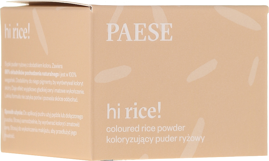 Poudre de riz matifiante - Paese Hi Rice Coloured Rice Powder
