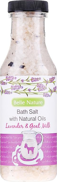 Sel de bain à l'huile naturelle de lavande et lait de chèvre - Belle Nature Bath Salt