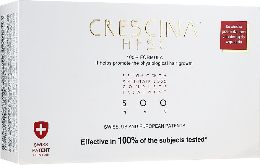 Traitement complet anti-chutes cheveux pour hommes, 500 - Crescina Re-Growth HFSC 100% + Crescina Anti-Hair Loss HSSC