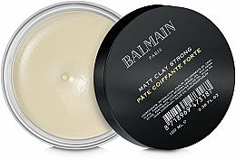 Parfums et Produits cosmétiques Pâte coiffante, fixation forte - Balmain Matt Clay Strong