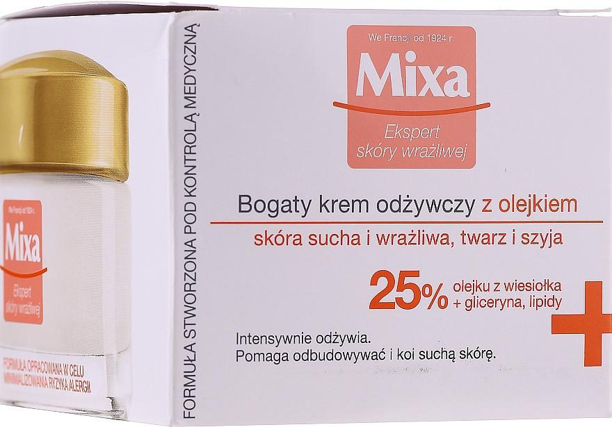 Crème à l'huile d'onagre pour visage et cou - Mixa Sensitive Skin Expert Rich Nourishing Cream