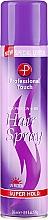 Parfums et Produits cosmétiques Laque cheveux - Professional Touch Silk Protein + B5 Super Hold Hair Spray