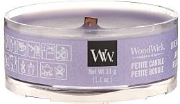 Parfums et Produits cosmétiques Bougie parfumée avec mèche en bois, Lavande relaxante - Woodwick Petite Candle Lavender Spa