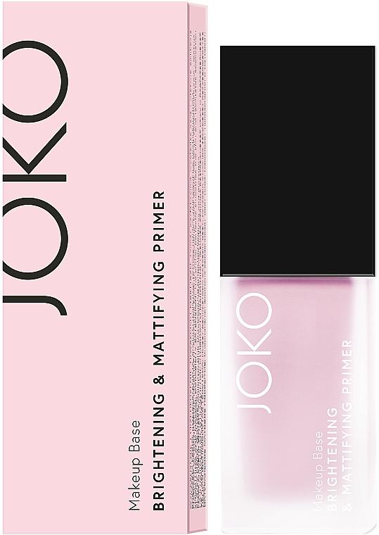 Base éclaircissante et matifiante pour visage - Joko Brightening & Mattifying Primer