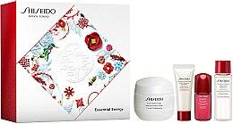 Parfums et Produits cosmétiques Kit visage - Shiseido Essential Energy Holiday Kit (crème/50ml + mousse nettoyante/15ml + lotion soin équilibrante/15ml + concentré/5ml)
