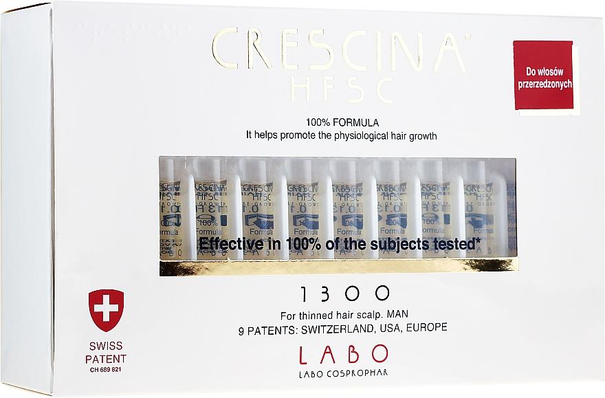 Traitement en ampoules stimulant la croissance des cheveux - Crescina HFSC Re-Growth 1300
